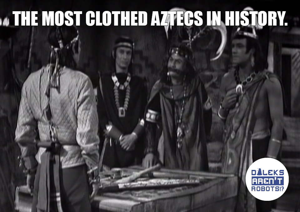 (Group of Aztecs with layers on) The most clothed Aztecs in history.