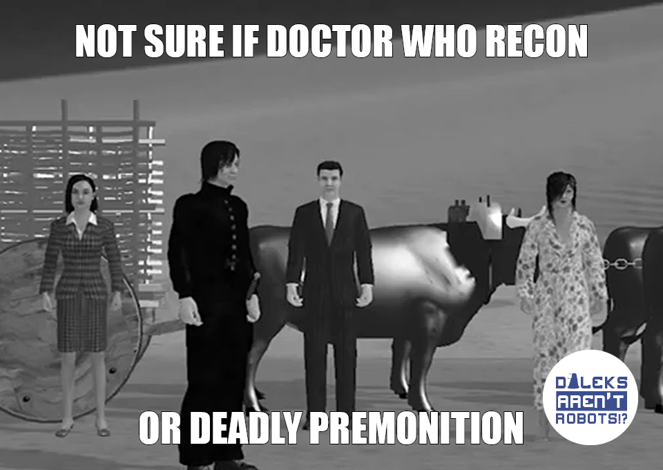 (Image of awkward CG people) Not sure if Doctor Who recon or Deadly Premonition.