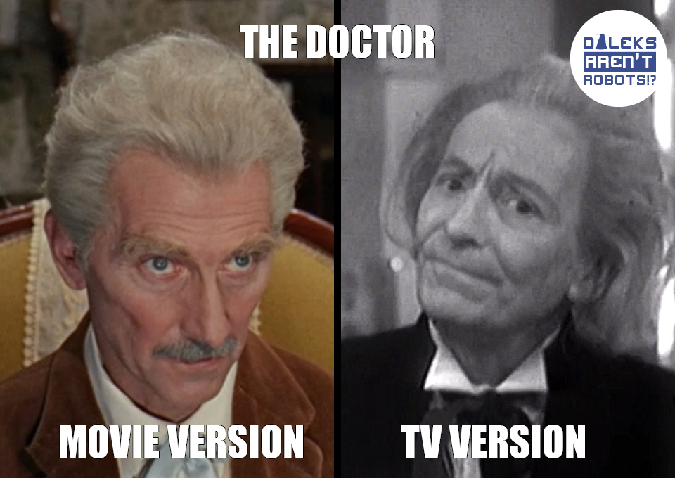 (Image of Peter Cushing and William Hartnell)