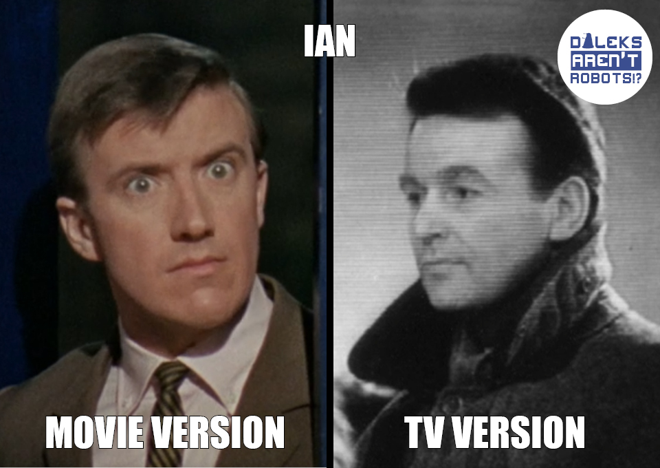 (Image of the young Ian from the movie and the adult teacher Ian from the show)