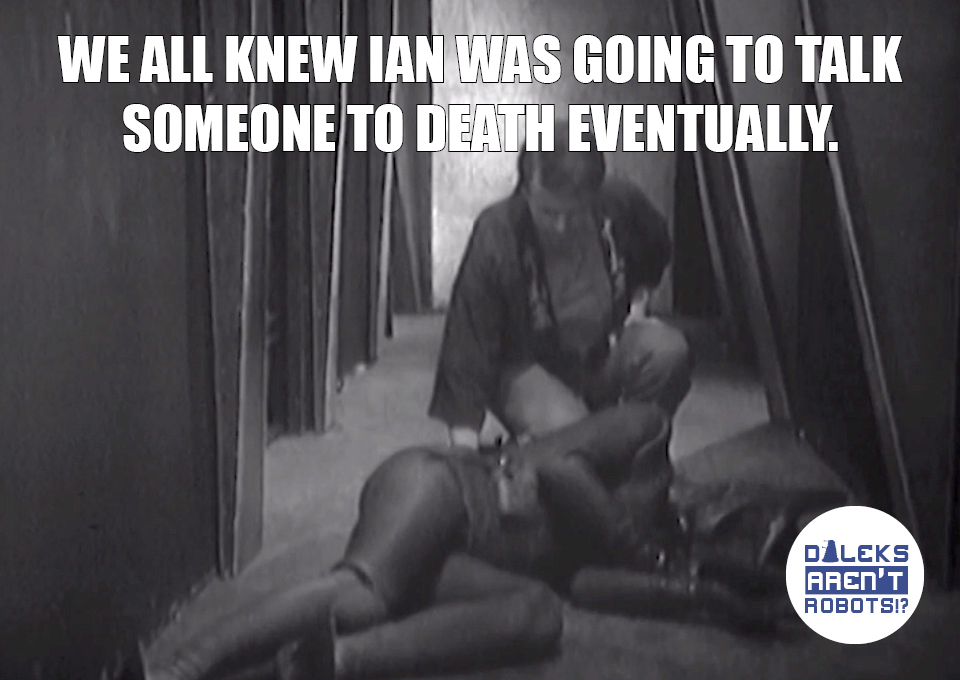 (Image of Ian inspecting a body on the ground) We all knew Ian was going to talk someone to death eventually.