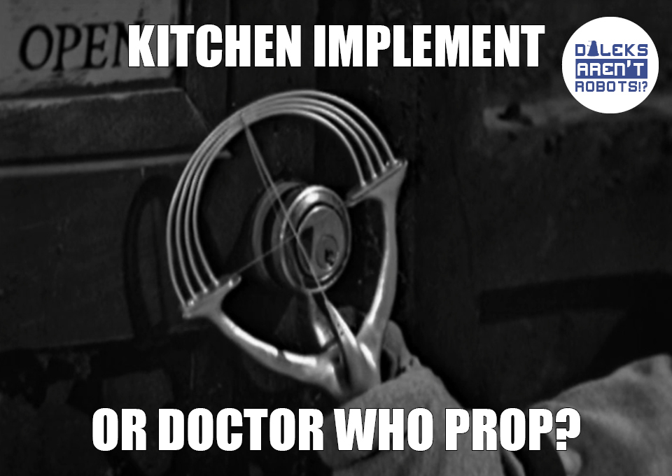 (Image of a weird-looking object with a handle) Kitchen implement or Doctor Who prop?