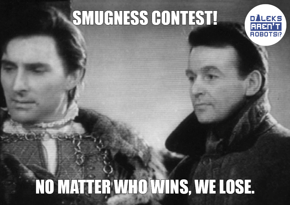 (Image of Ian and Marco Polo) Smugness contest! No matter who wins, we lose.