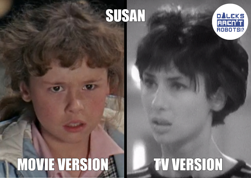 (Image of the child Susan from the movie and teen Susan from the show)