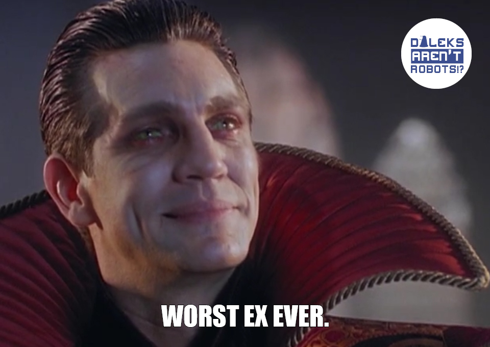 (Image of the Master smiling smugly) Worst ex EVER.